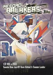 2003 Topps Record Breakers #CD1 Carlos Delgado 1
