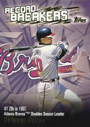 2003 Topps Record Breakers #CJ Chipper Jones 1