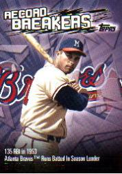 2003 Topps Record Breakers #EM Eddie Mathews 1