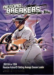 2003 Topps Record Breakers #JB1 Jeff Bagwell 1