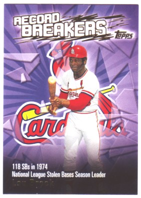 2003 Topps Record Breakers #LBR1 Lou Brock 1