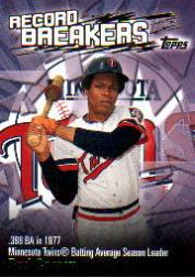 2003 Topps Record Breakers #RCA Rod Carew 1 front image