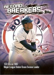 2003 Topps Record Breakers #RH1 Rickey Henderson 1