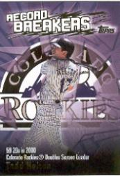 2003 Topps Record Breakers #TH1 Todd Helton 1
