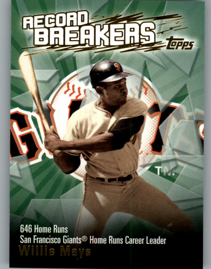2003 Topps Record Breakers #WM Willie Mays 2