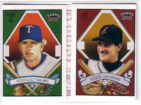 2003 Topps 205 Triple Folder Polar Bear #TF5 Omar Vizquel/Alex Rodriguez