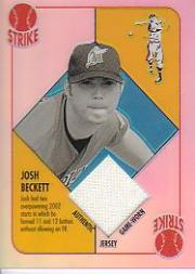 2003 Topps Chrome Blue Backs Relics #JB Josh Beckett Uni A