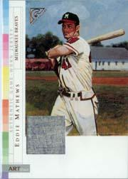 2003 Topps Gallery HOF ARTifact Relics #EM Eddie Mathews Jsy A