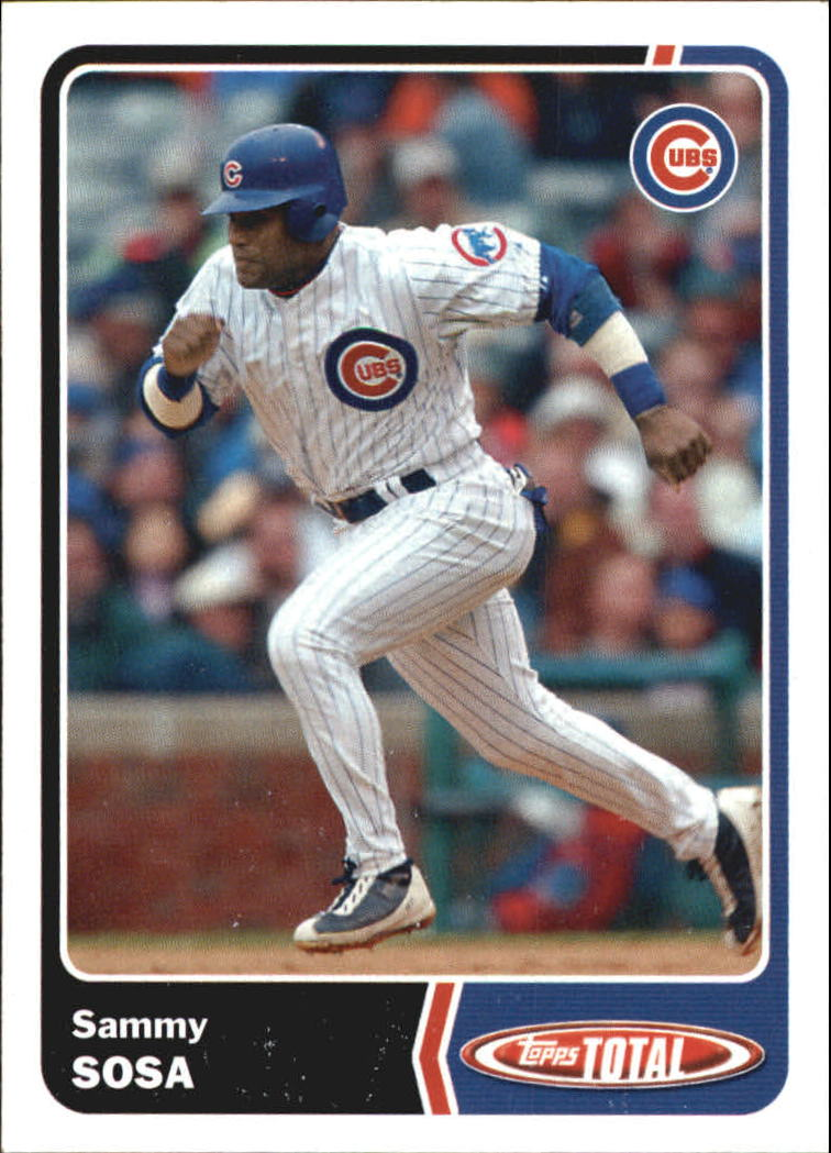 2003 Topps Total Team Checklists #6 Sammy Sosa