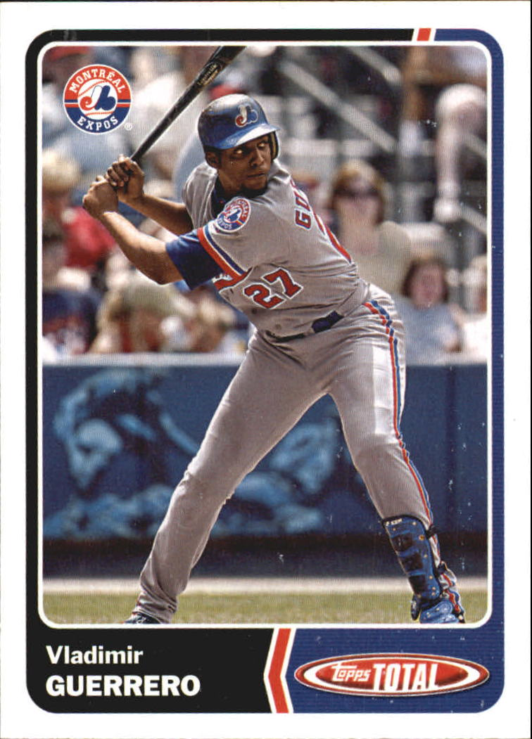 2003 Topps Total Team Checklists #18 Vladimir Guerrero