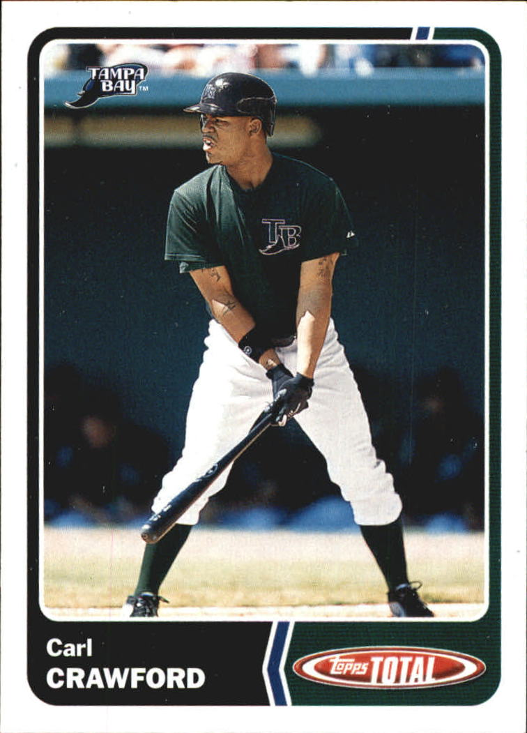 2003 Topps Total Team Checklists #28 Carl Crawford