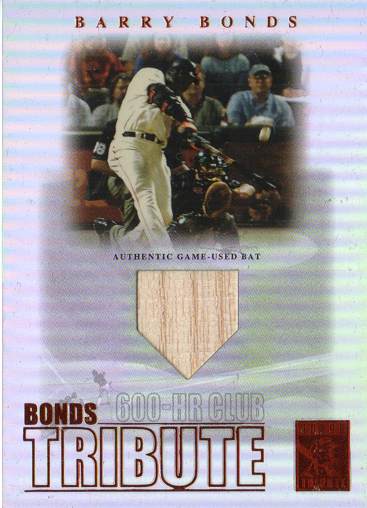 2003 Topps Tribute Contemporary Bonds Tribute 600 HR Club Relics Red #BB Barry Bonds Bat