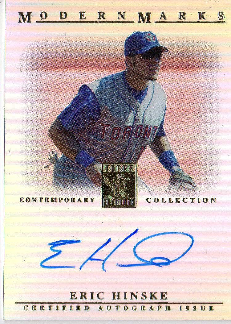 2003 Topps Tribute Contemporary Modern Marks Autographs #EH Eric Hinske