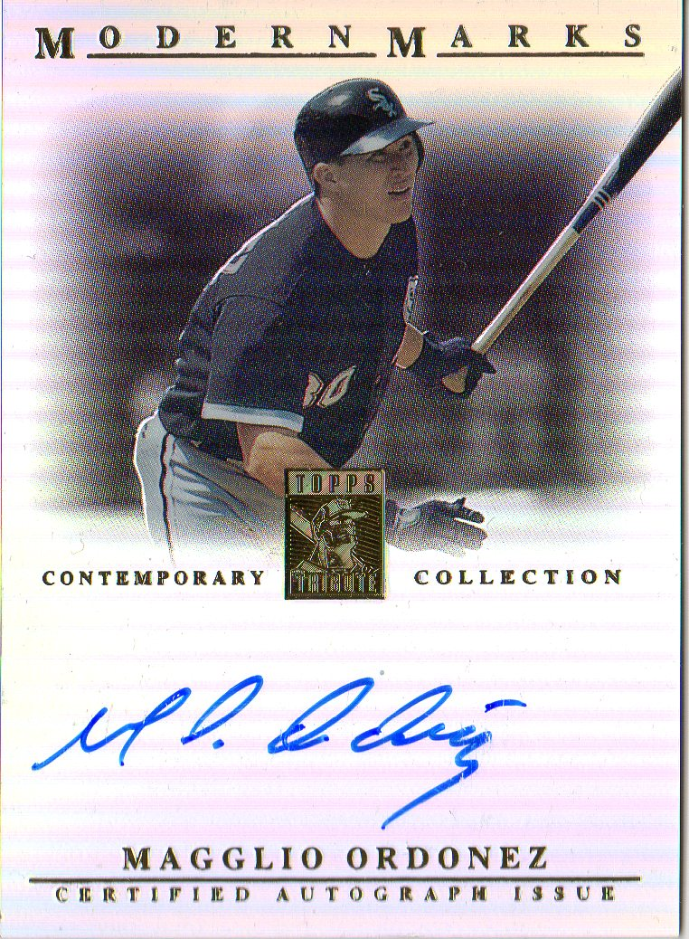 2003 Topps Tribute Contemporary Modern Marks Autographs #MO Magglio Ordonez