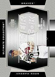 2003 Ultimate Collection Game Jersey Tier 1 #GM Greg Maddux White Jsy
