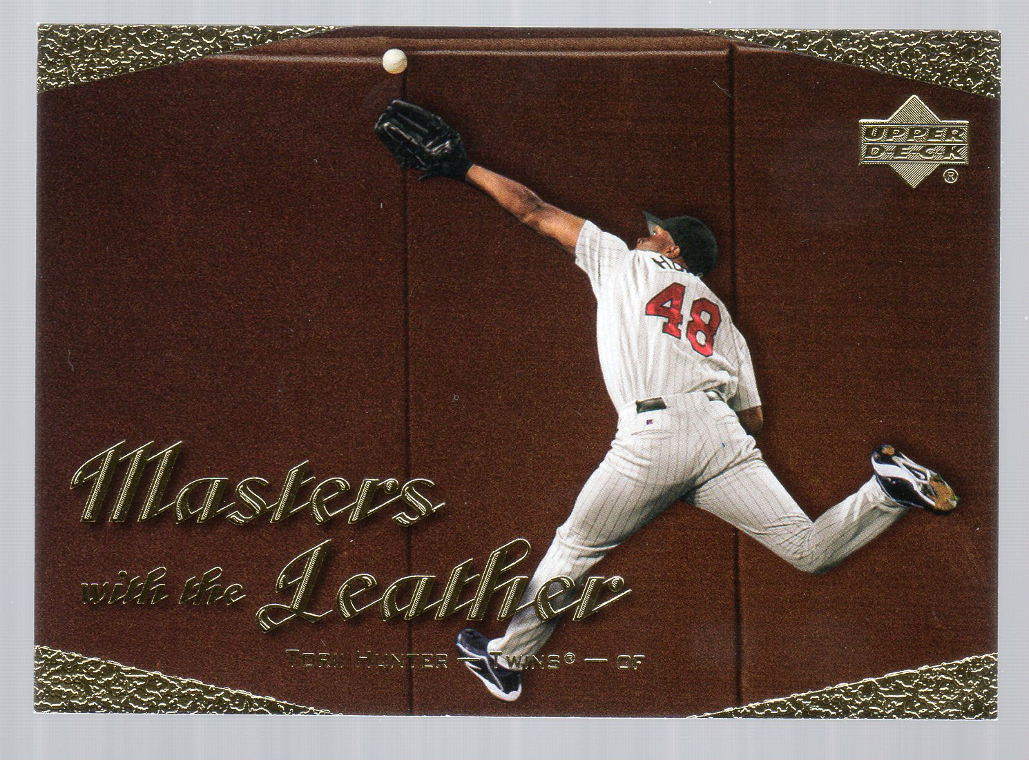2003 Upper Deck Masters with the Leather #L5 Torii Hunter