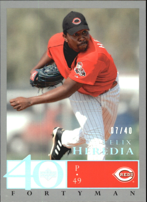2003 Upper Deck 40-Man Rainbow #722 Felix Heredia