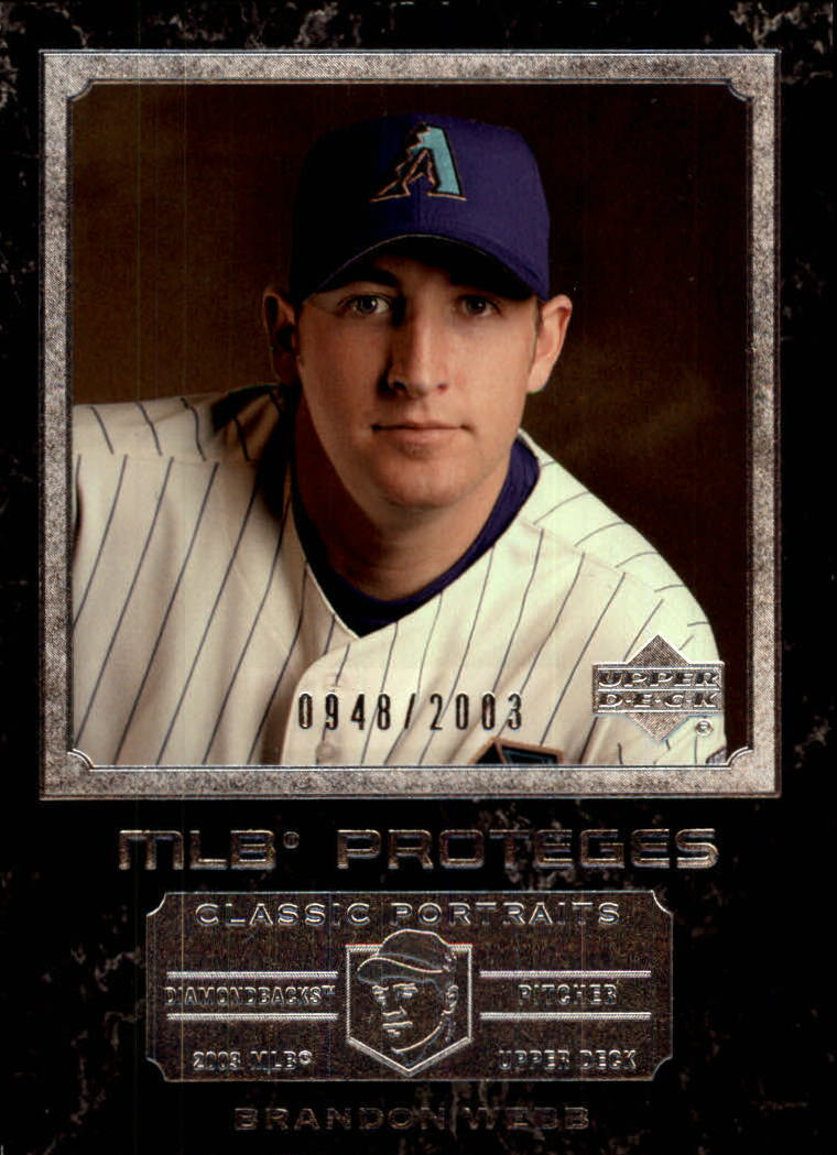 2003 Upper Deck Classic Portraits #157 Brandon Webb MP RC