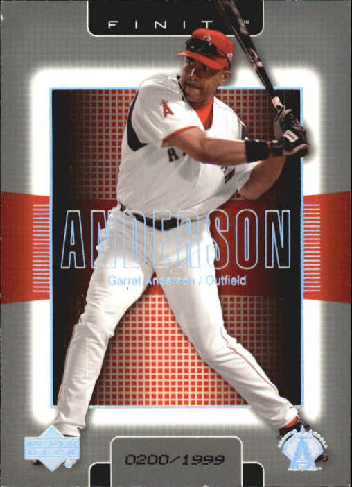 2003 Upper Deck Finite #2 Garret Anderson