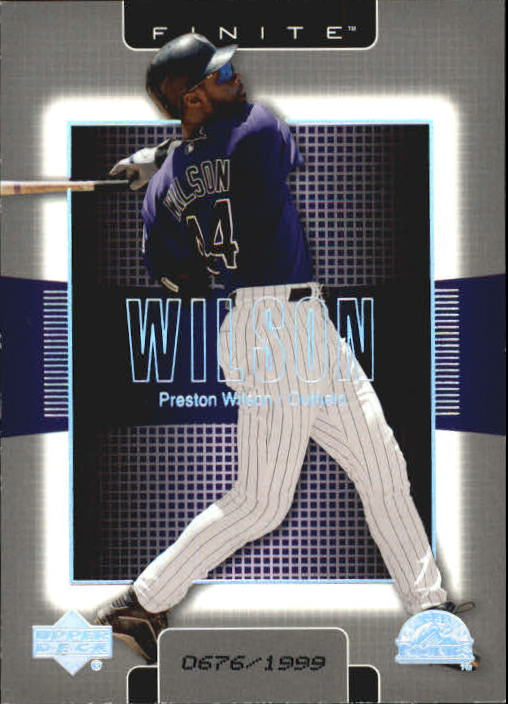 2003 Upper Deck Finite #37 Preston Wilson