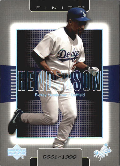 2003 Upper Deck Finite #49 Rickey Henderson