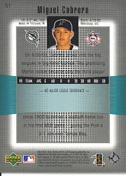 2003 Upper Deck Finite #51 Miguel Cabrera back image