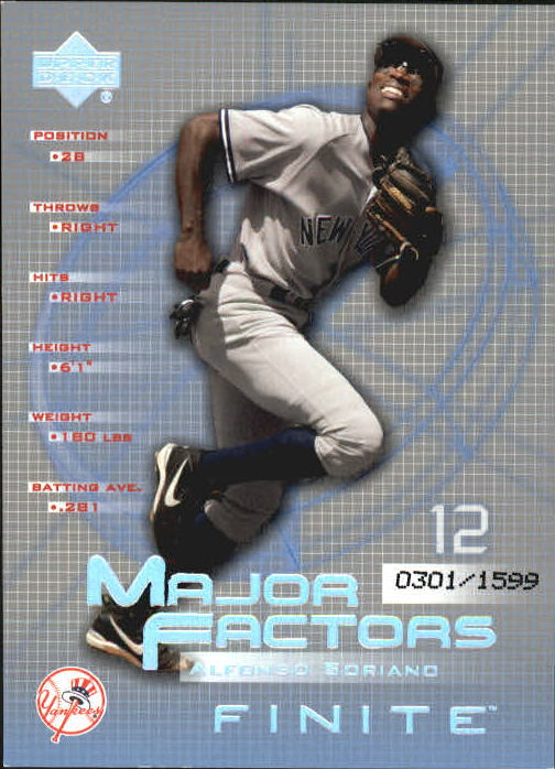 2003 Upper Deck Finite #103 Alfonso Soriano MF