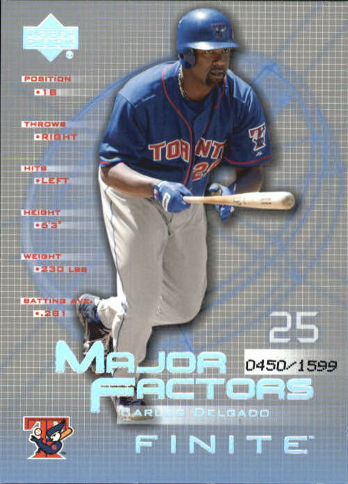 2003 Upper Deck Finite #107 Carlos Delgado MF