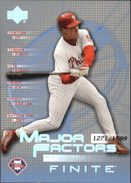 2003 Upper Deck Finite #136 Pat Burrell MF
