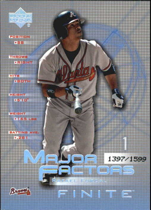 2003 Upper Deck Finite #138 Rafael Furcal MF
