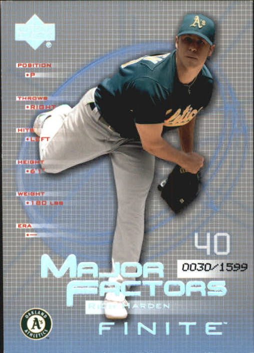 2003 Upper Deck Finite #140 Rich Harden MF