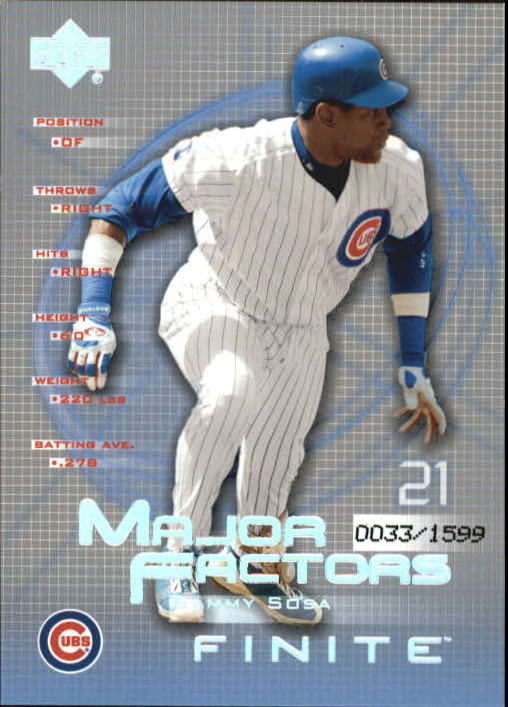 2003 Upper Deck Finite #144 Sammy Sosa MF