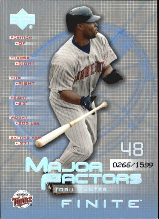 2003 Upper Deck Finite #148 Torii Hunter MF