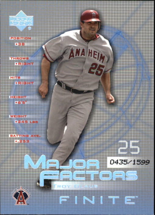 2003 Upper Deck Finite #149 Troy Glaus MF