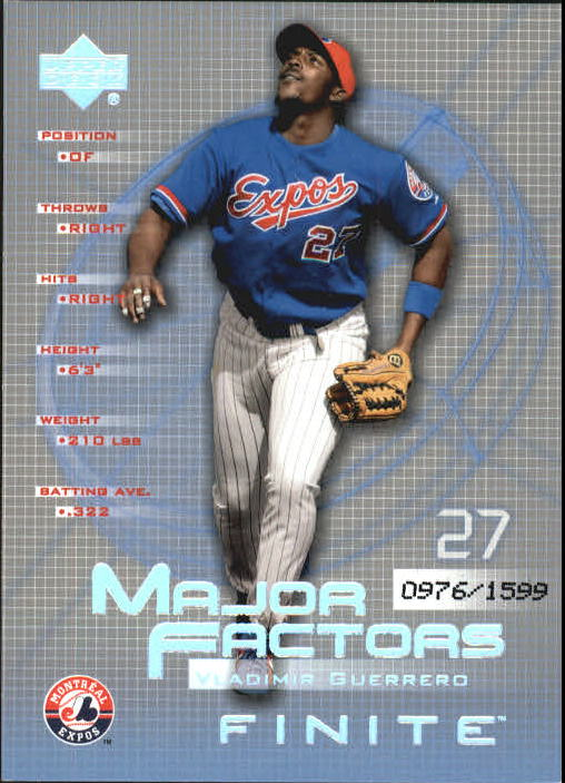 2003 Upper Deck Finite #150 Vladimir Guerrero MF