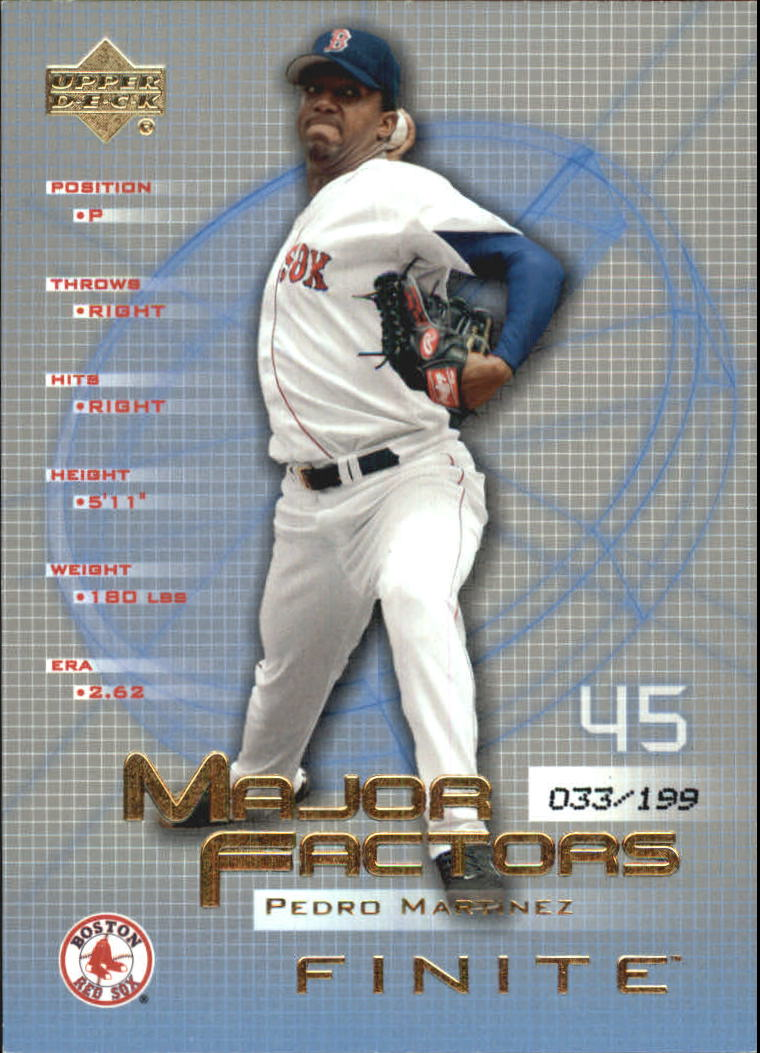 2003 Upper Deck Finite Gold #137 Pedro Martinez MF