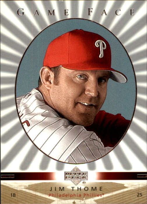 2003 Upper Deck Game Face #86 Jim Thome