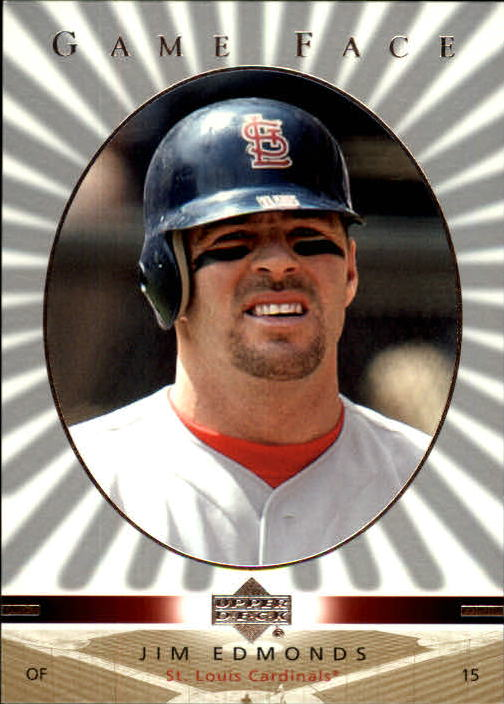 2003 Upper Deck Game Face #103 Jim Edmonds
