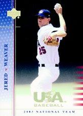 2003 USA Baseball National Team Signatures Blue #6 Jered Weaver