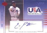 2003 USA Baseball National Team Signatures Blue #15 Eric Patterson