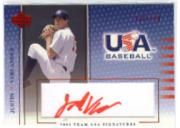 2003 USA Baseball National Team Signatures Red #5 Justin Verlander