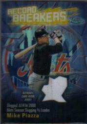 2003 Topps Chrome Record Breakers Relics #MP Mike Piazza Uni B1