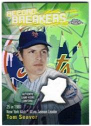 2003 Topps Chrome Record Breakers Relics #TS Tom Seaver Uni B2