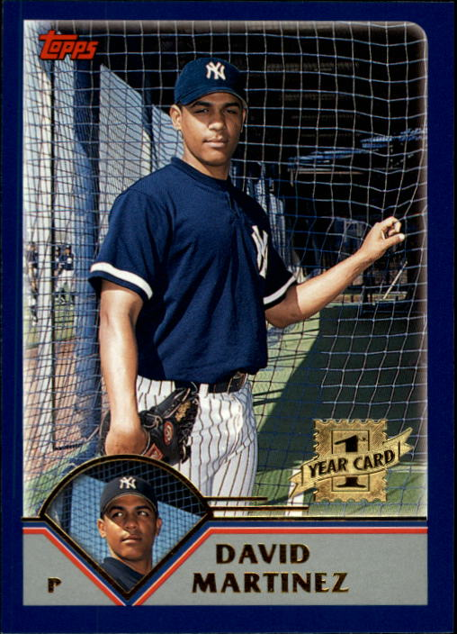 2003 Topps Chrome Traded #T166 David Martinez FY RC