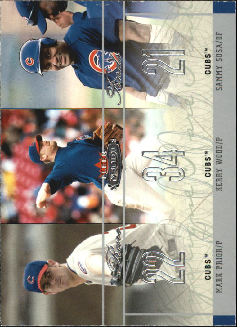2003 Fleer Mystique Rare Finds #4 Prior/Wood/Sosa