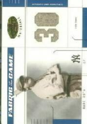 2003 Leaf Certified Materials Fabric of the Game #13PS Babe Ruth Pants PS/10