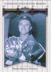 2003 Upper Deck Yankees Signature #11 Bobby Shantz