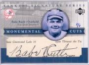 2003 Upper Deck Yankees Signature Monumental Cuts #BR Babe Ruth/1