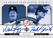 2003 Upper Deck Yankees Signature Pinstripe Excellence Autographs #BP Wade Boggs/Mike Pagliarulo