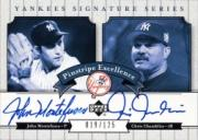 2003 Upper Deck Yankees Signature Pinstripe Excellence Autographs #MC John Montefusco/Chris Chambliss